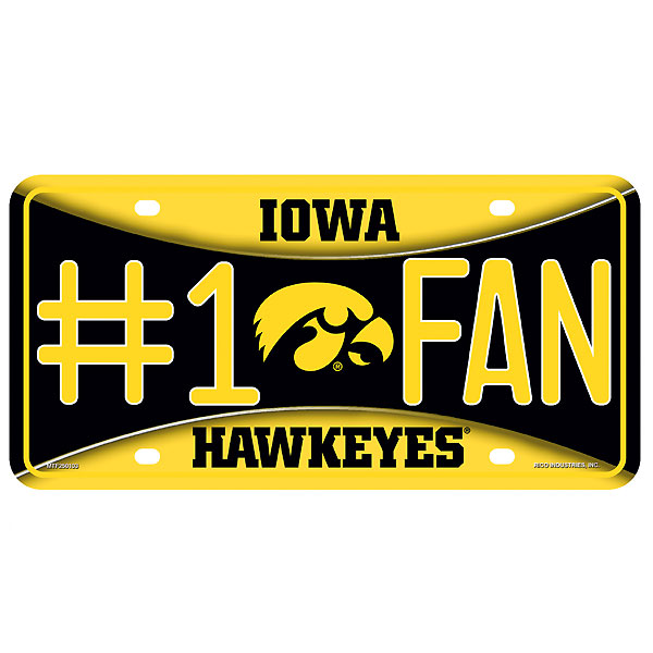 Iowa Hawkeyes #1 Fan Auto Tag