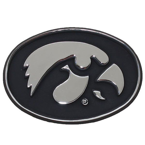 Iowa Hawkeyes Auto Emblem-Chrome