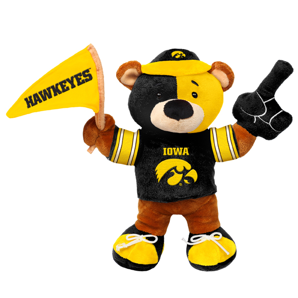 Iowa Hawkeyes Plush Fan Bear
