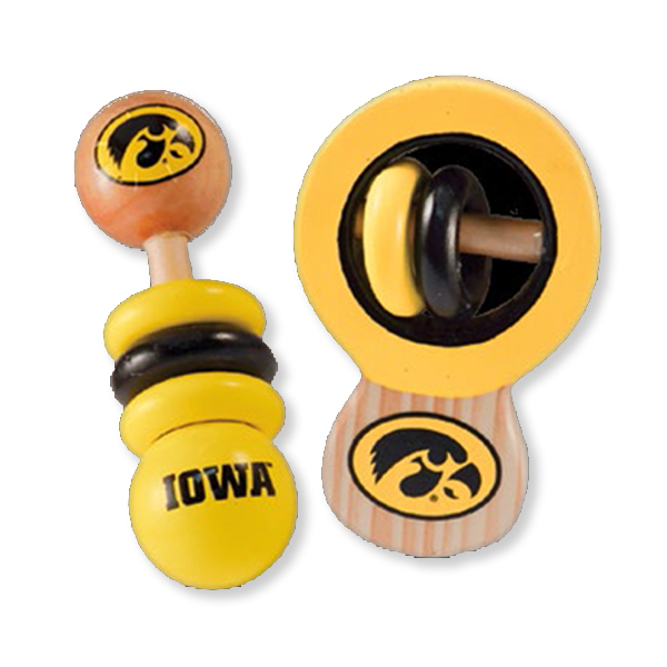 Iowa Hawkeyes Baby Rattle Set