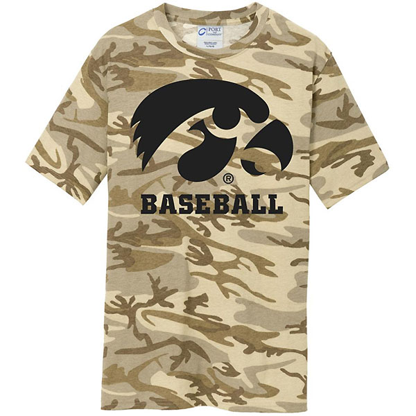 Iowa Hawkeyes Baseball Core Cotton Camo Tee