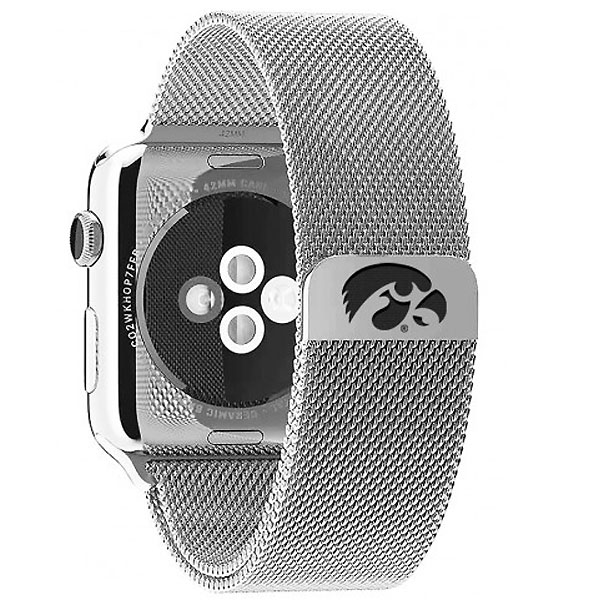 Iowa Hawkeyes Stainless Steel Watchband
