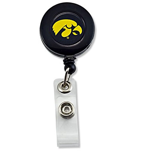 Iowa Hawkeyes Badge Reel Holder