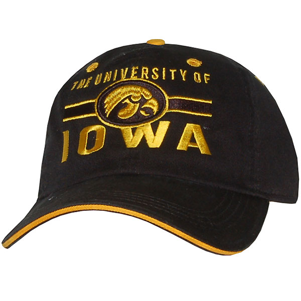 Iowa Hawkeyes University Black Cap