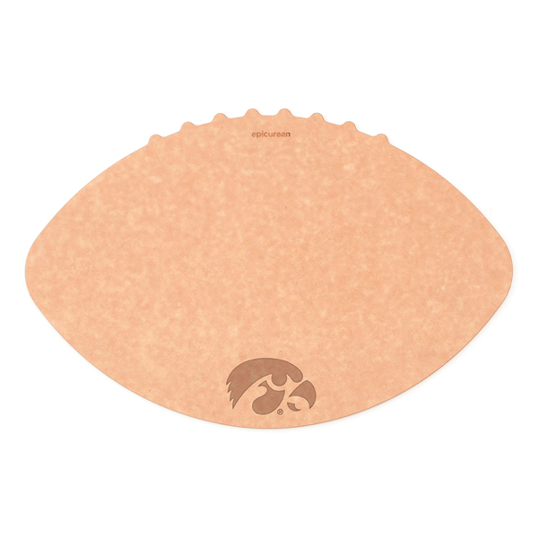 Iowa Hawkeyes Wood Fiber Football Cutting Board