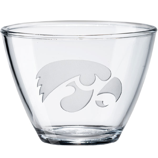 Iowa Hawkeyes Clear Large Bowl