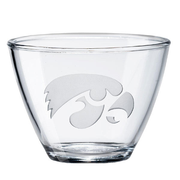 Iowa Hawkeyes Clear Medium Bowl