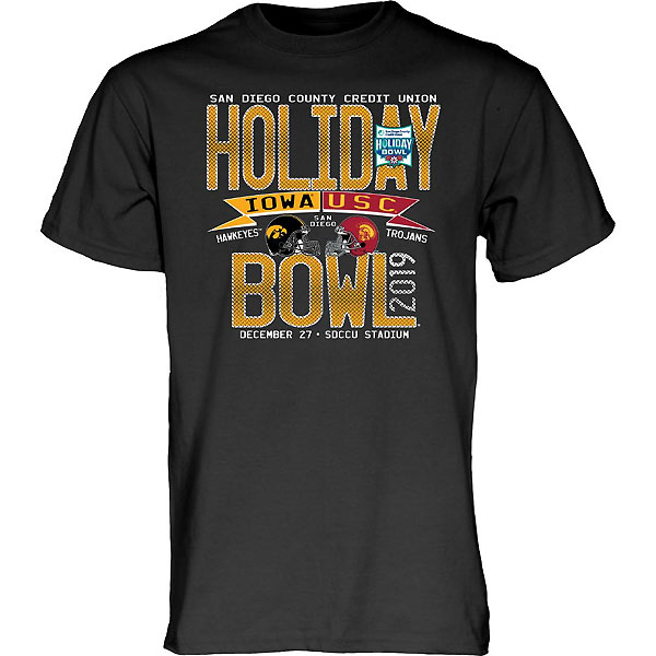 Iowa Hawkeyes Holiday Bowl Olive Branch Tee - Short Sleeve