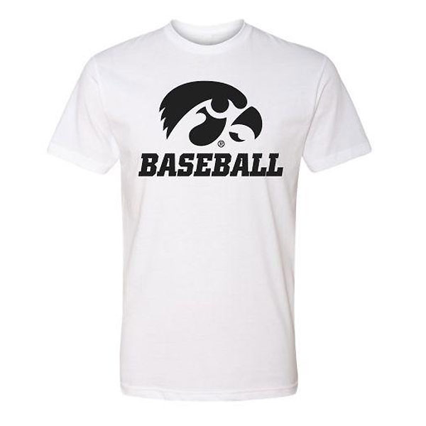 Iowa Hawkeyes Baseball Basic Logo Tee (White)