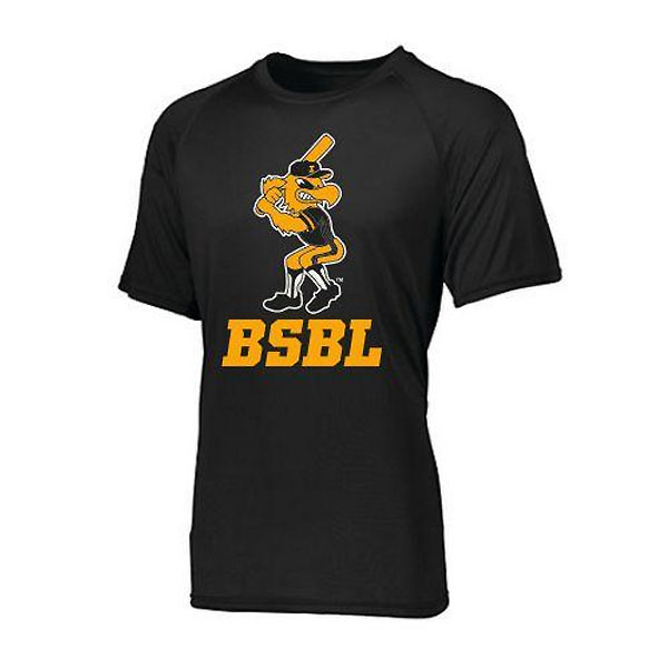 Iowa Hawkeyes Moisture Wick Herky over BSBL (Black)