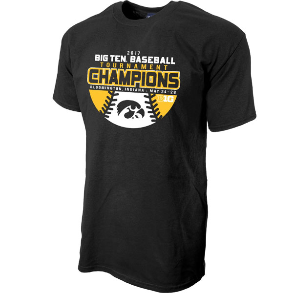 Iowa Hawkeyes Baseball 2017 Big10 Champions Tee