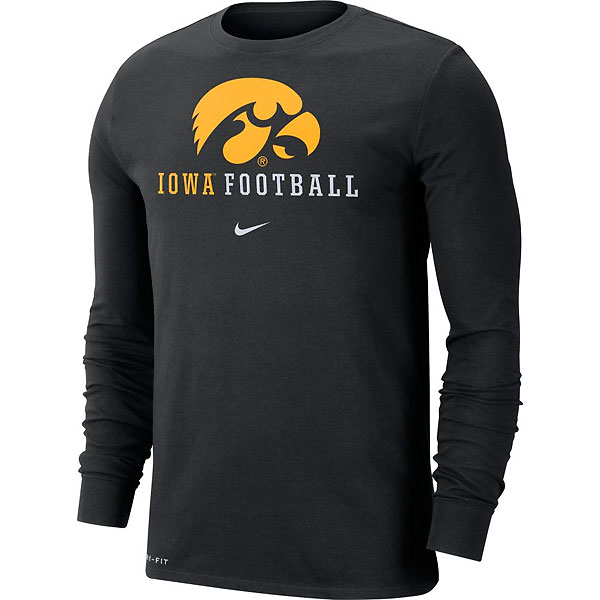 Iowa Hawkeyes Icon Football Tee