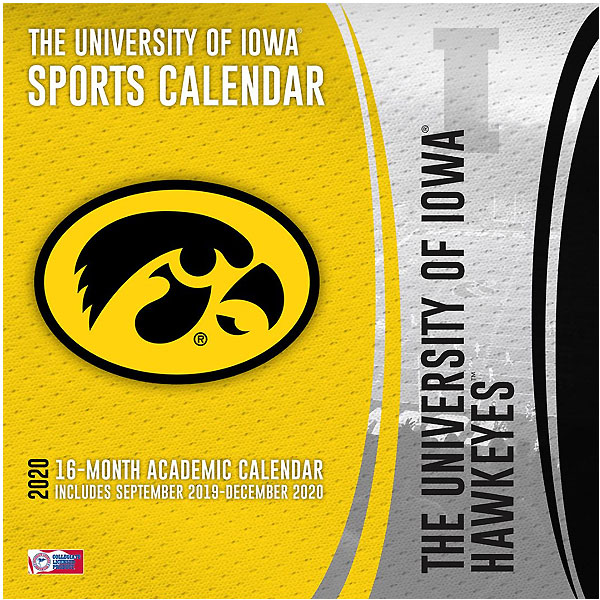 Iowa Hawkeyes 2020 Wall Calendar