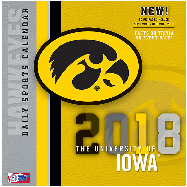 Iowa Hawkeyes 2018 Box Calendar
