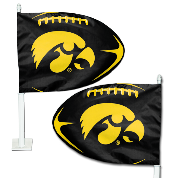 Iowa Hawkeyes Football Car Flag