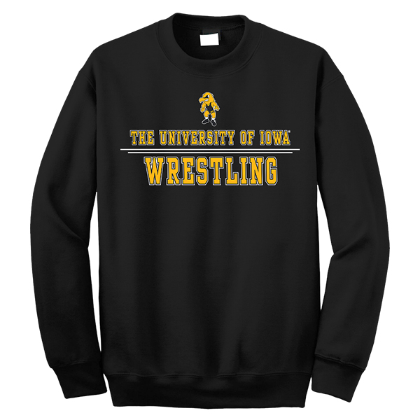 Iowa Hawkeyes Wrestling Crewneck Sweathirt