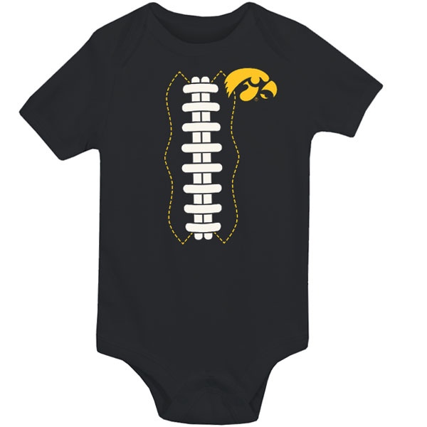 Iowa Hawkeyes Infant FB Laces Out Onsie