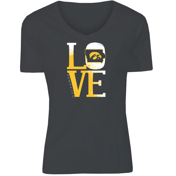Iowa Hawkeyes Women's Stadium Love V-Neck