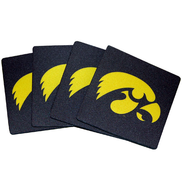 Iowa Hawkeyes Neoprene Coaster Set