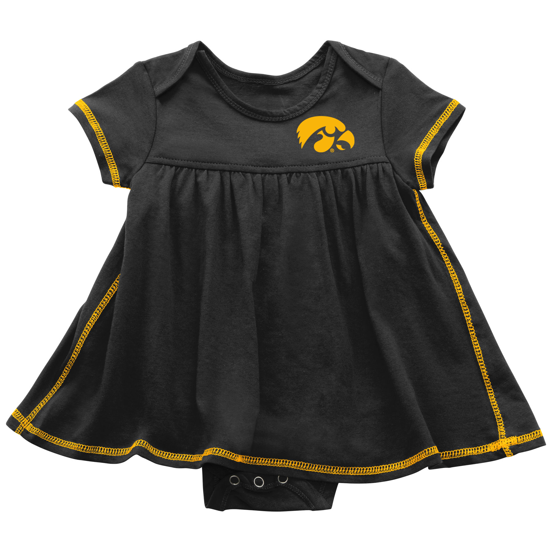 Iowa Hawkeyes Infant Mac & Cheese Onsie Dress