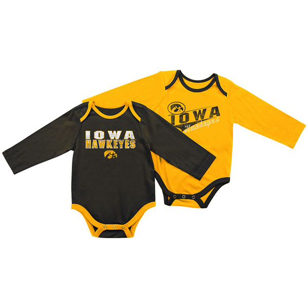 Iowa Hawkeyes Infant Tango Charlie 2-Pack Onesie