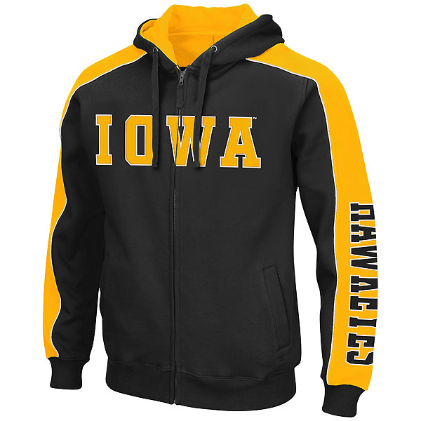 Iowa Hawkeyes Thriller II Full-Zip Hoodie (Big)