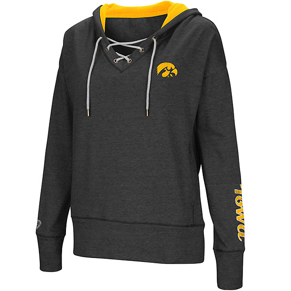 Iowa Hawkeyes Women's Rhymes Lace Up Hoodie