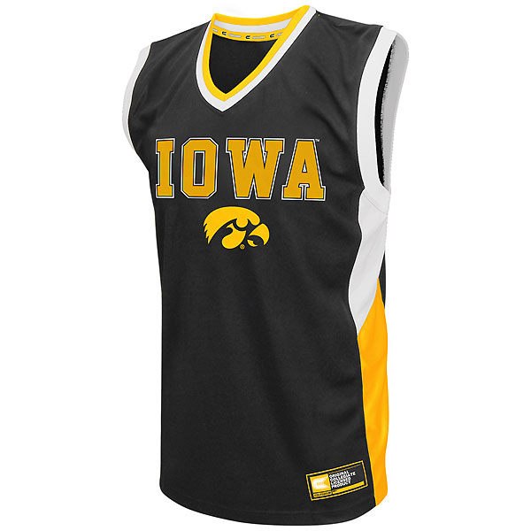 Iowa Hawkeyes Fadeaway Basketball Jersey