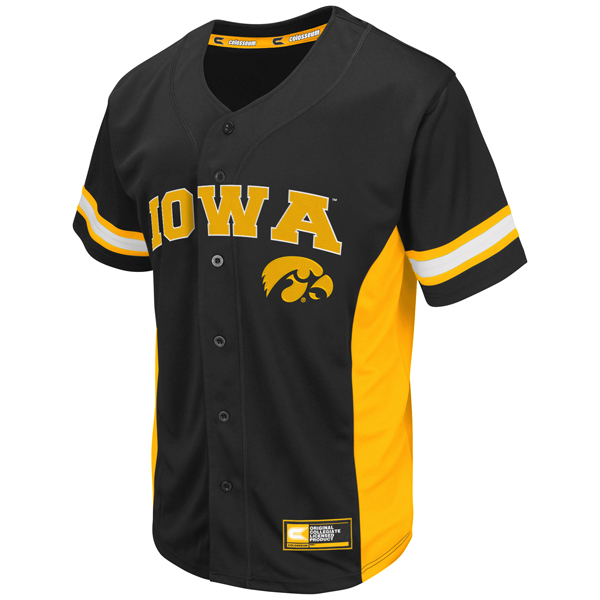 Iowa Hawkeyes Strike Zone Baseball Jersey