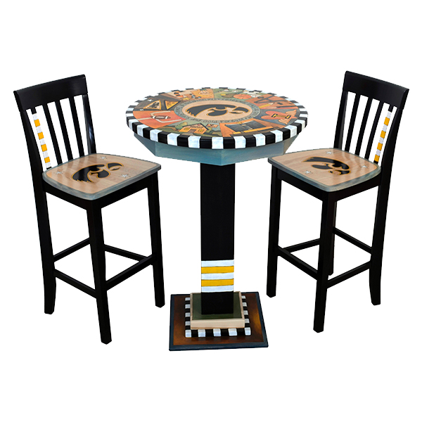 Iowa Hawkeyes Custom Art Table and Chair Set