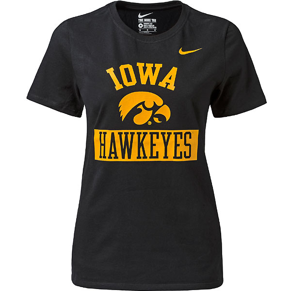 Iowa Hawkeyes Women's Core Black Tee