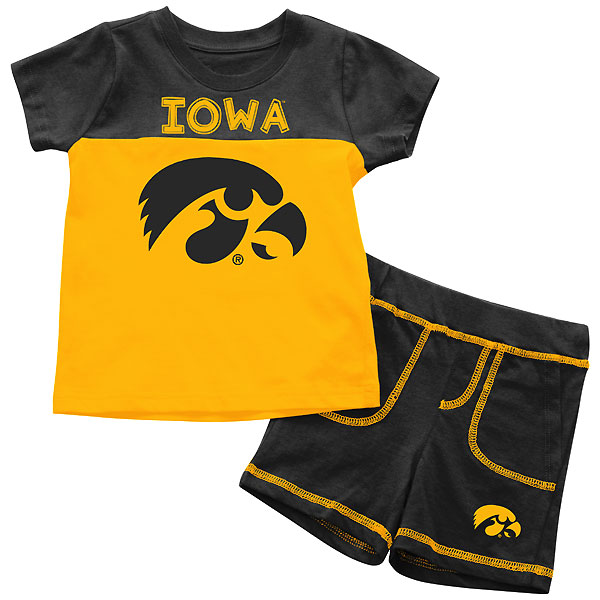 Iowa Hawkeyes Infant Giddy Up Short Tee Set