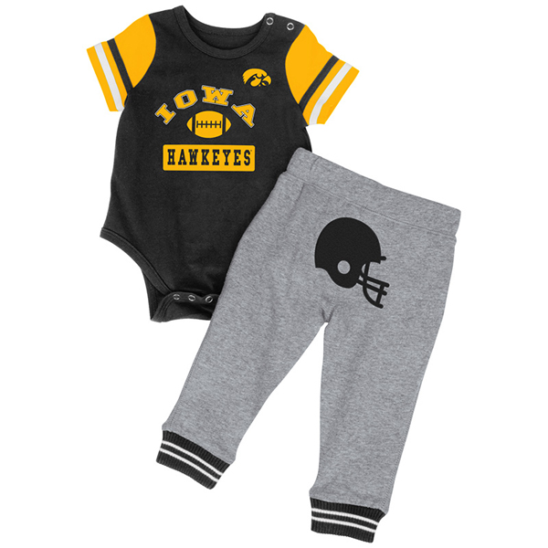 Iowa Hawkeyes Infant MVP II Onesie and Pant Set