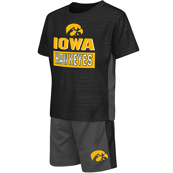 Iowa Hawkeyes Toddler Vault Short Tee Set
