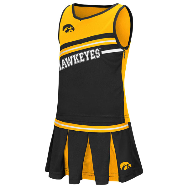 Iowa Hawkeyes Toddler Curling Cheer Set