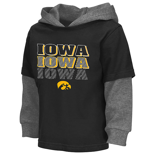 Iowa Hawkeyes Toddler Radar Hooded Tee