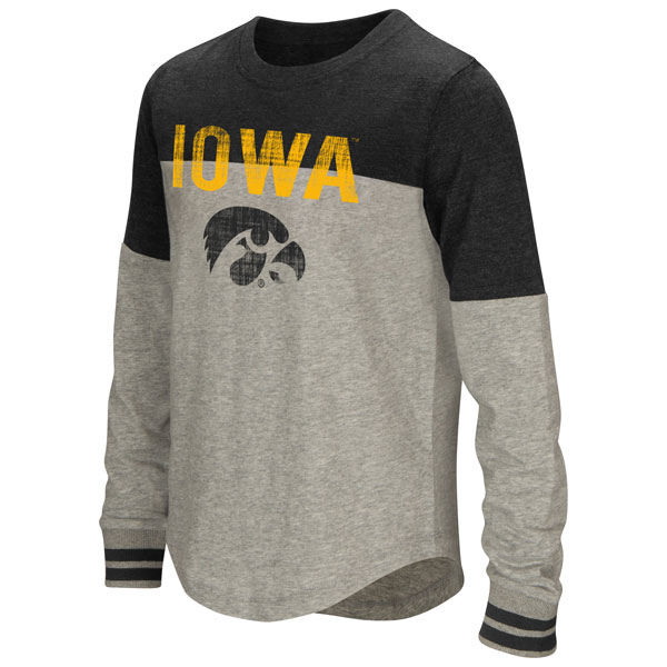 Iowa Hawkeyes Girls Baton Tee