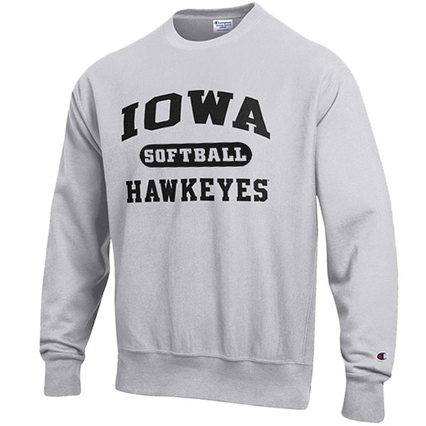 Iowa Hawkeyes Softball Reverse Weave Crew Sweat