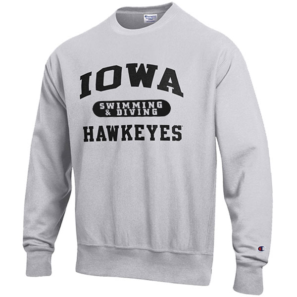 Iowa Hawkeyes Swimming & Diving Reverse Weave Crew Sweat