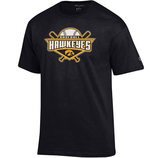 Iowa Hawkeyes Baseball Cross Bats Tee - Short Sleeve
