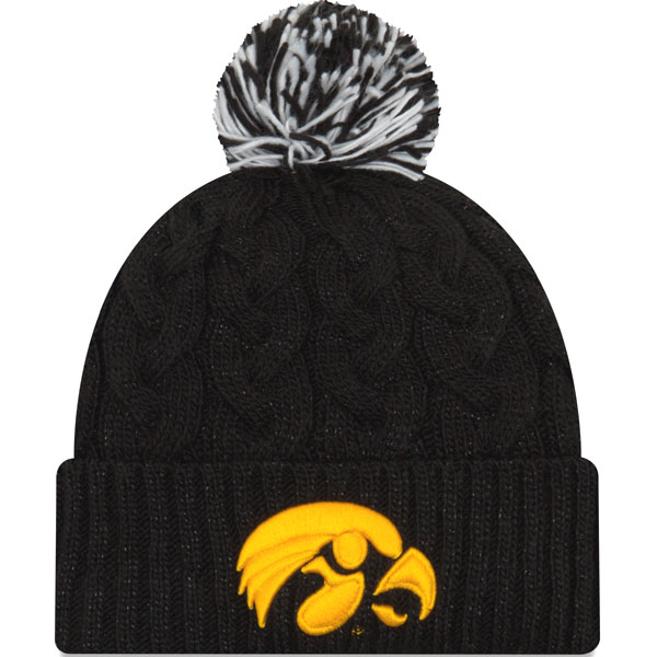 5cfe9652478 Iowa Hawkeyes Women s Cozy Cable Knit Hat