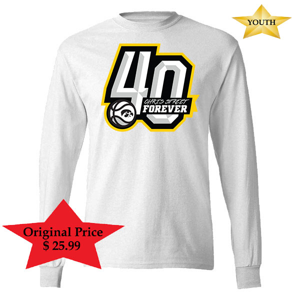 Iowa Hawkeyes Youth Chris Street White Out Long Sleeve Shirt