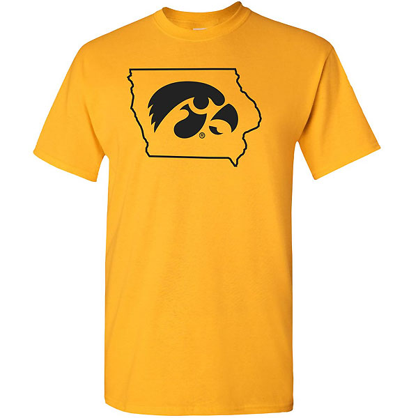 Iowa Hawkeyes Hawk Head in State Tee