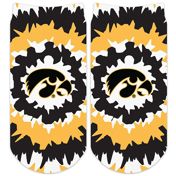Iowa Hawkeyes Adult No-Show Socks