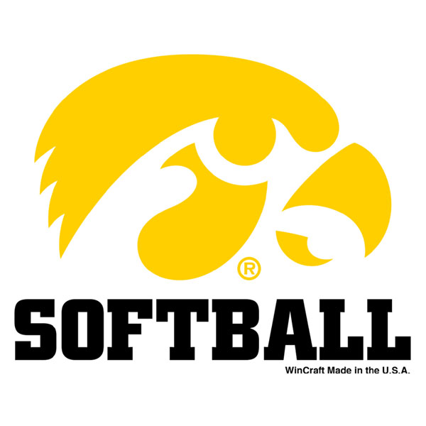 Iowa Hawkeyes Softball Decal