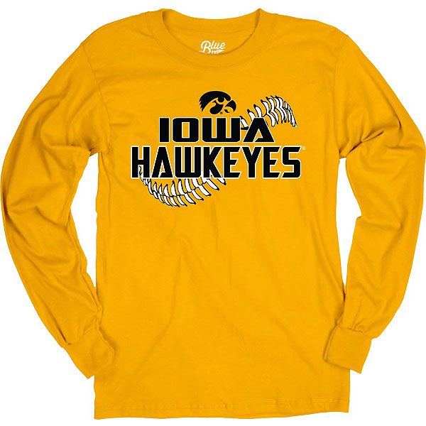Iowa Hawkeyes Baseball Devils Stitch Tee - Long Sleeve