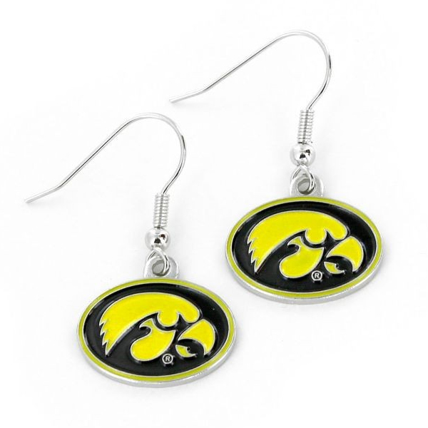 Iowa Hawkeyes Yellow Dangler Earrings