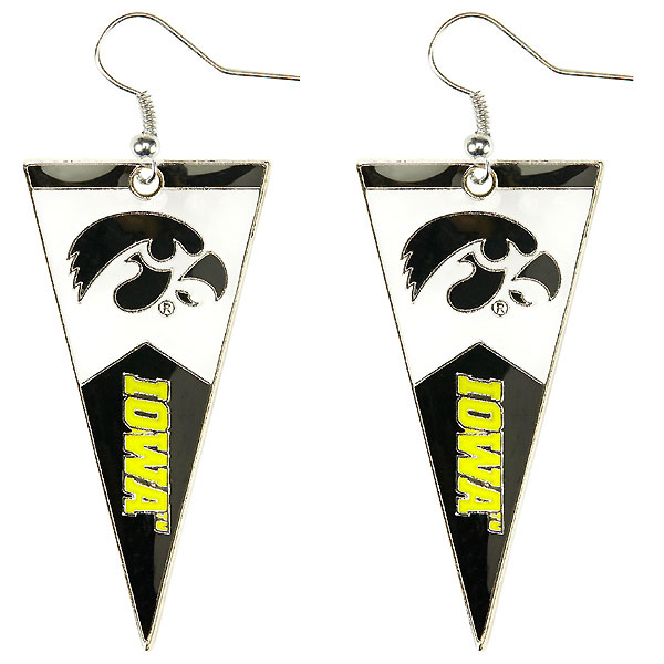 Iowa Hawkeyes Pennant Earrings