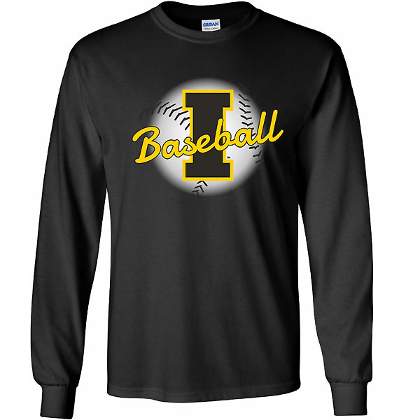 Iowa Hawkeyes Faded Ball Tee