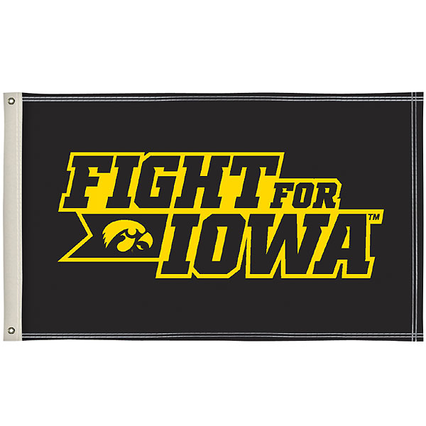 Iowa Hawkeyes Fight for Iowa Flag